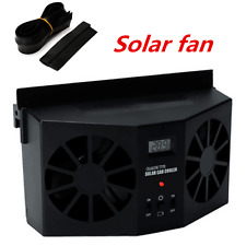 Solar Powered Car Auto Window Air Vent Ventilator Mini Air Conditioner Cool Fan