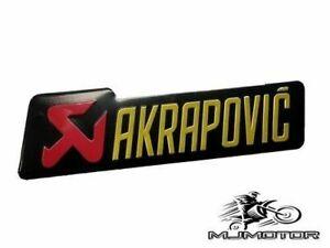 AKRAPOVIC Exhaust Muffler Pipe STICKER GRAPH 14cm x 4cm