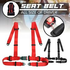 "4 Point Sports Racing Seat Belts Safety Harness 2 "" Universal Adjustable"