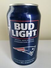 2018 Limited Edition Bud Light NFL Kickoff NEW ENGLAND PATRIOTS Beer Can empty