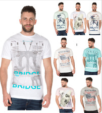 hombre manga corta de Algodón Estampado Verano Top Camiseta Talla M L Xl Xxl