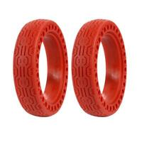 2pcs Shock Absorption Solid Tires 8.5 inch for M365 Electric Scooter (Red)