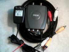 RCA Audiovox CRF907 RF Modulator with power supply & AV cable