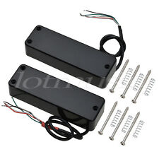 Set 4 String Electric Bass Guitar Pickups Humbucker Double Coil Bridge and Neck