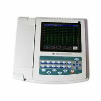 Digital 12-lead 12-channel ECG/EKG Machine Electrocardiograph,interpretation,NEW