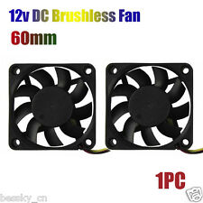 60mm PC CPU Case Cooling Fan 12v 3 Pin Computer Cooler Quiet Molex Connector 1PC