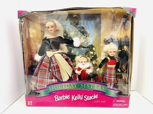 1998 Barbie Kelly Stacie Holiday Sisters Special Christmas Edition Set *Read*