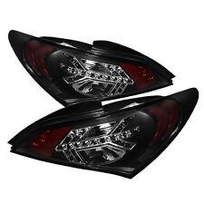 Fit Hyundai 10-12 Genesis Coupe 2Dr Black LED Rear Tail Lights Brake Lamp Set