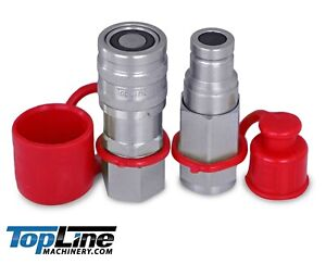 """TL45 1/2 SAE Thread Flat Face Quick Connect Coupler 3/8"""" Body Bobcat Skid Steer"""