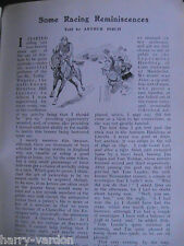 Arthur Birch Racehorse Jockey Horseracing Bourton Hill Rare Old Article 1910