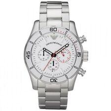 Emporio Armani AR5932 Silver Steel Chronograph Mens Designer Watch