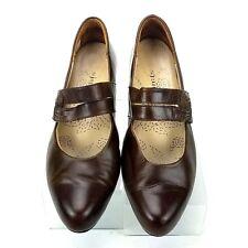 KUMFS Brown Leather Mary Jane Comfort Heels Shoes Women's US 9-9.5 EU 40