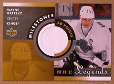 2001-02 WAYNE GRETZKY UPPER DECK LEGENDS MILESTONES GAME USED JERSEY