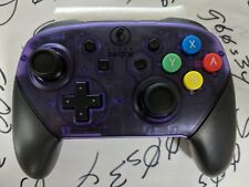 New Nintendo Switch Custom Clear Atomic Purple Pro Controller - SNES