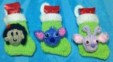 KNITTING PATTERN - Lilo and Stitch inspired 8cms Christmas stocking decoration