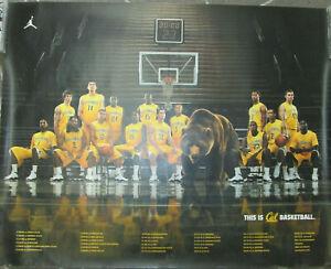CAL BEARS Basketball 2009-2010 season poster, 27x34, EX