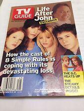 "TV GUIDE ""LIFE AFTER JOHN"" NOVEMBER 8-14 2003 JOHN RITTER,KATEYSAGAL,KALEY CUOCO"