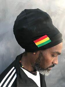 Black rasta tam Rasta Turban Bobo Dread Head Wrap Nyabinghi Turban boboshanti