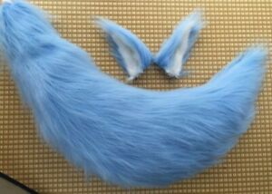 Brown/Black/Orange/Pink/White Cosplay Plush Ear+Tail Cosplay Props Accessories