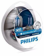 H11 PHILIPS Diamond Vision 5000k 12362DVS2 Ultimate White Light (1 set)