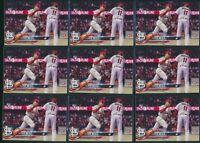 Lot of 9 - 2018 Topps Update US218 Tyler O'Neill RC Rookie Card Cardinals