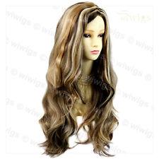 Wiwigs Fabulous Brown & Blonde Mix Long Wavy Layered Skin Top Ladies Wig