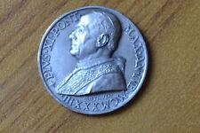 ANTICA MEDAGLIA VOTIVA PIO XI GIUBILEO 1933 MISTRUZZI numismatica SUBALPINA