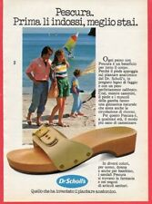 Paginetta pubblicitaria Advertising Werbung 1983 Pescura Dr. SCHOLL'S