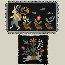March Hare Easter Penny Rug Wool Quilt Pattern All Through the Night