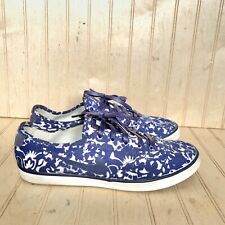 Nike Women's 5.5 Sneaker Low Top White Blue Floral Casual Shoe Youth Girls 4Y