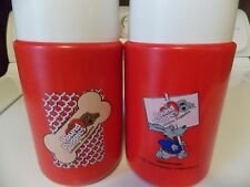 Vintage Pound Puppies Thermos 2 1987 Sippy Cup Lids Nice Tonka Dogs Nice Set