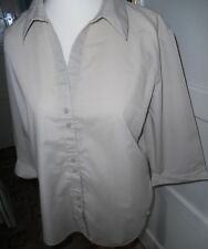 LADIES TOP/BLOUSE GEORGE SIZE 18/20 STONE 3/4 SLEEVE WORN ONCE ONLY
