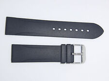 Bonetto Cinturini (Italy) Rubber Watch Band 22 mm , Black, Model 315