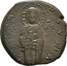 Ancient Byzantine 1034-1041 Michael Iv Follis Christ