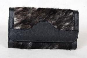 100% Real Cowhide Wallet Real Leather Hair ON Western Ladies Wallets  SA-7102