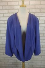 NEW Alfani Jacket Womens Sz 22W Plus Coat Blazer Blue Dress Suit Open Front NWT