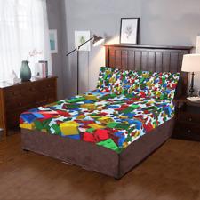 New Arrival Custom Lego Block Duvet Cover Sets Pillowcase 3-Pieces Bedding Set