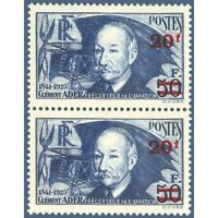 N°__493 CLEMENT ADER, PAIRE TIMBRES NEUFS ** 1940