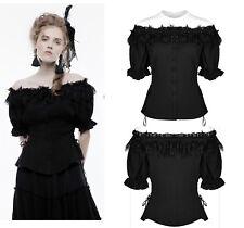 Punk Rave blusa Gothic top t-shirt cordones nugoth volantes punta wly-070cdf