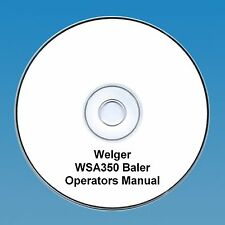 Welger WA350 Baler - Operators Manual