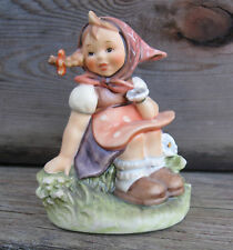 "Vtg Goebel Hummel Figurine ""In The Meadow"" 1987 Vtg Made in West Germany."