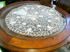 Very Unique Handmade Lace Point Crochet for a round table .From Ireland .