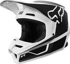 Fox Helmet V1 Przm Black/White Medium 2019 Motocross ATV Offroad - 21773-018-M