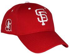 CAP STANFORD UNIVERSITY NIGHT SF GIANTS HAT SGA 2016 RED CARDINAL SNAPBACK 5c681af5a4c7