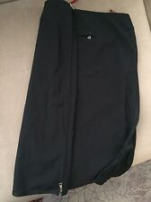 Prada Black Straight Skirt Italian Size 40 Side Zippers