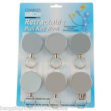 1pc Retractable Recoil Pull Keyring Large Belt Clip Retrieve Key 100cm