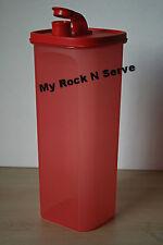 Tupperware Slim Line Pitcher Fridge Bottle Red  2L New!!