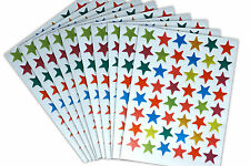 10 SHEETS OF METALLIC STAR STICKERS - REWARD CHARTS, PARTY BAGS