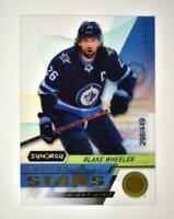 2020-21 UD Synergy Exceptional Stars Gold #ES-13 Blake Wheeler /449
