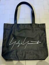 Yohji Yamamoto Black Leather Tote Bag Promo Gift New